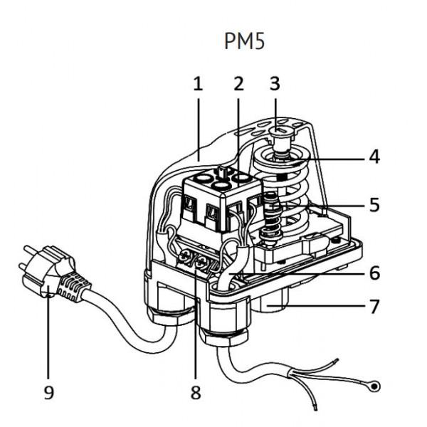 Реле давления с удлиненной внутренней резьбой Uni-Fitt PM 5