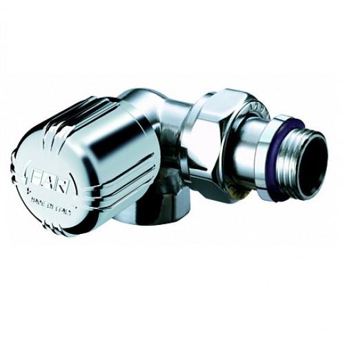 Трехосевой терморегулирующий вентиль угловой Far FL 014712