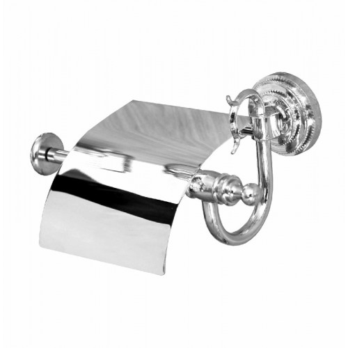 Настенный держатель туалетной бумаги с крышкой Fuente Real 2502C