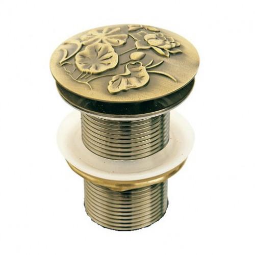 """Донный клапан для раковины """"Лотос"""" Bronze de Luxe"""