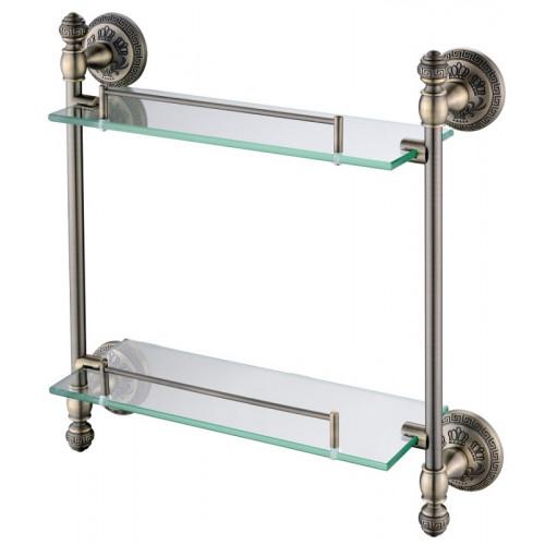 Подвесная полочка для ванны двойная Oute Bronze 2111-2 TG
